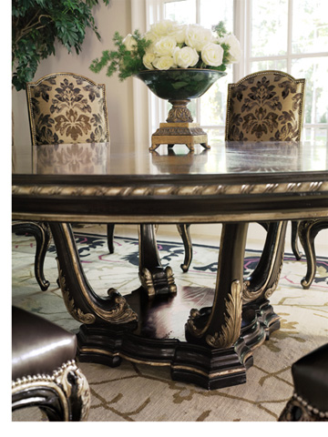 Marge Carson - Round Pedestal Dining Table - PSM08-1