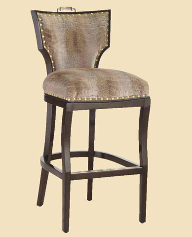 Image of Upholstered Barstool
