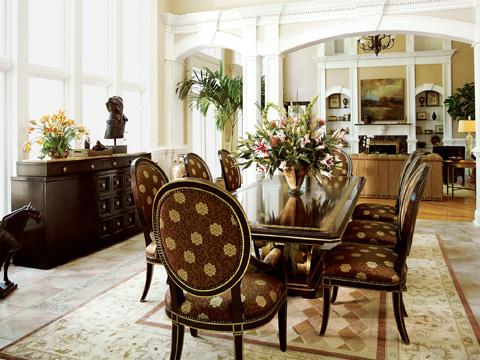 Marge Carson - Oval Back Arm Chair - RR46