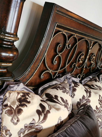 Marge Carson - King Canopy Poster Bed - SEV91-5