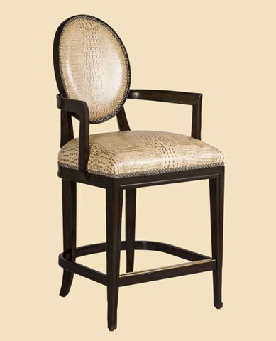 Marge Carson - Oval Back Counter Stool - SNA47-26