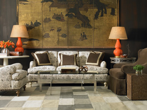 Mr. and Mrs. Howard by Sherrill Furniture - Bridgewater Sofa - H708S