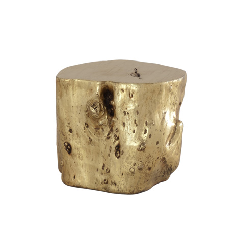 Image of Log Stool in Gold Leaf