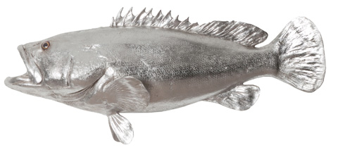 Phillips Collection - Estuary Cod Fish in Silver Leaf - PH64541