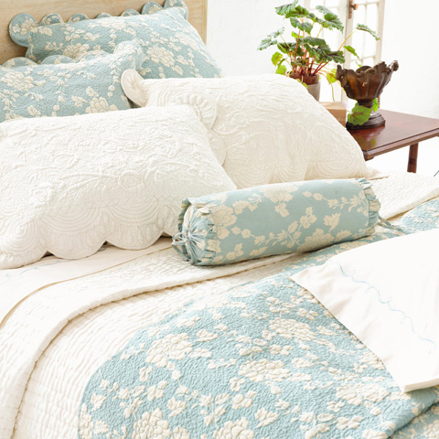 Pine Cone Hill, Inc. - Madeline Blue Quilted Sham - Standard - Q227SS