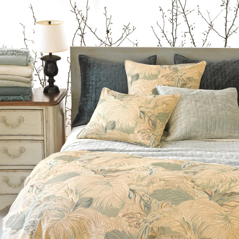 Pine Cone Hill, Inc. - Matte Velvet Juniper Quilted Sham - Standard - Q239JUSS