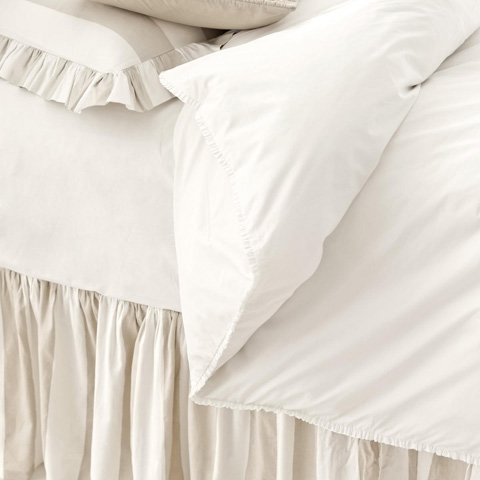 Pine Cone Hill, Inc. - Petite Ruffle White Duvet Cover - King - SPRWDCK