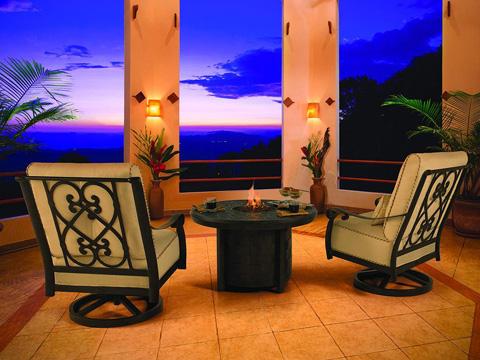 Castelle - Bellanova High Back Cushioned Lounge Swivel Rocker - 5416T
