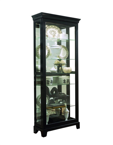 Pulaski - Oxford Black Two Way Sliding Door Curio - 20819
