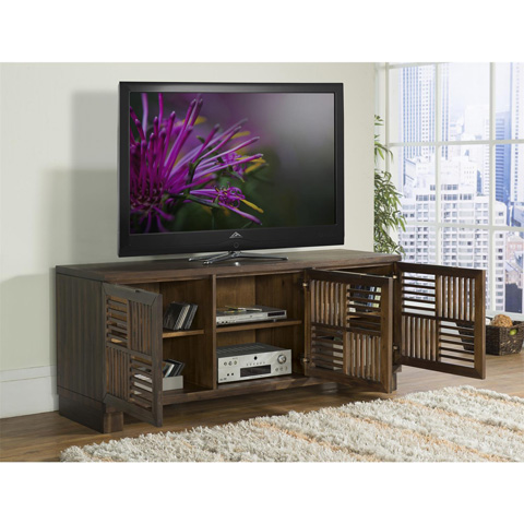 Riverside Furniture - Open Slat TV Console - 15341