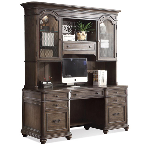 Riverside Furniture - Credenza with Hutch - 15833