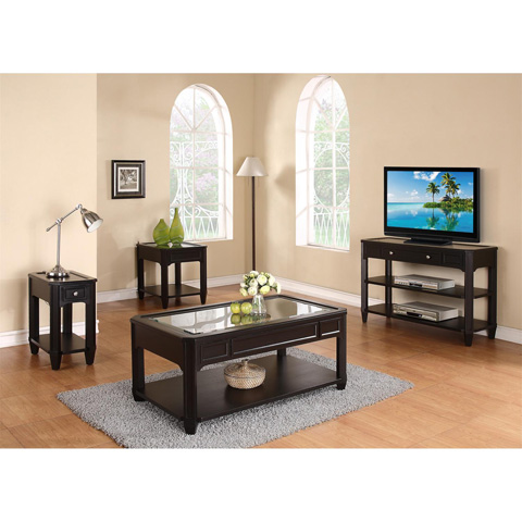 Riverside Furniture - Rectangular Glass Top Coffee Table - 40803