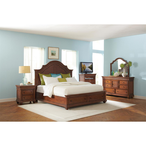 Riverside Furniture - Arch Landscape Mirror - 42861