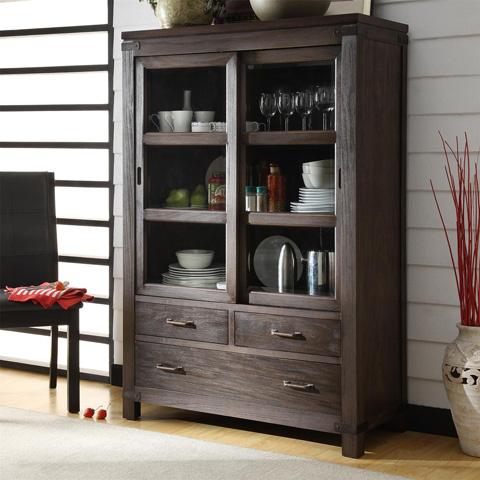 Riverside Furniture - Sliding Door Bookcase - 84536