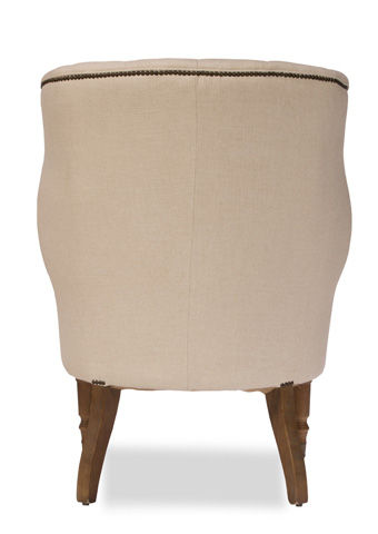 Sarreid Ltd. - Welsh Linen Chair - 29729