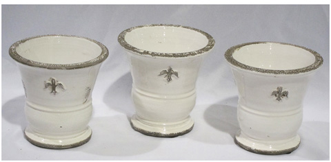 Sarreid Ltd. - Set Of Three Ceramic Vases - SFV442SL