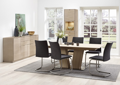 Skovby - Dining Chair with Metal Base - SM 53