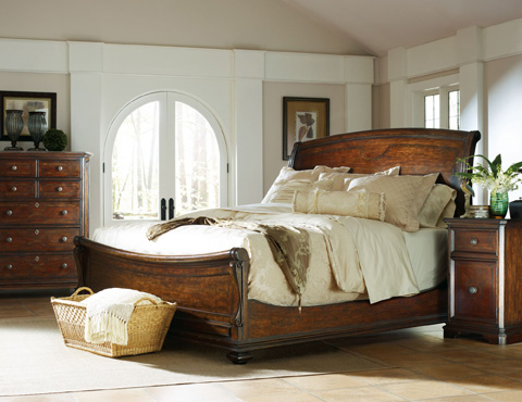 Image of Barrel Queen Sleigh Bed