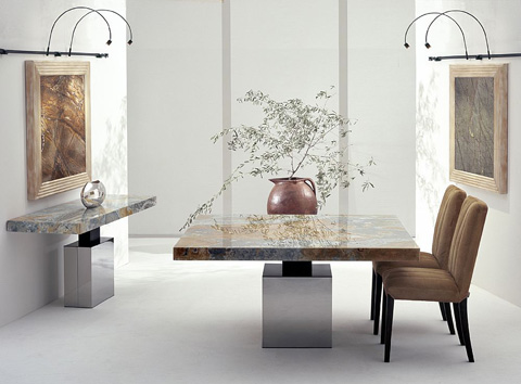 Stone International - Pedestal Dining Table - 3066