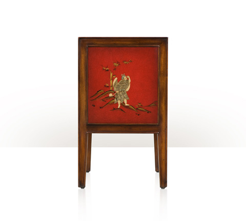 Theodore Alexander - A Vision in Scarlet Accent Bedside Chest - 5002-209