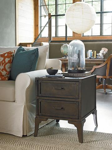 Thomasville Furniture - Two Drawer Metal End Table - 82891-255