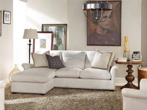 Image of Haven Sofa Chaise with Ottoman