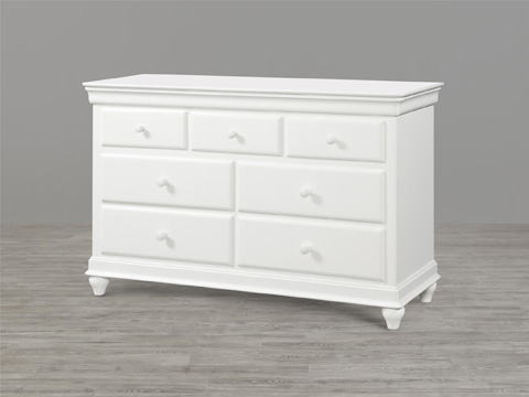 Image of Summer White Seven Drawer Dresser
