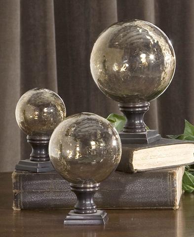 Uttermost Company - Lamya Glass Globe Finials - 19563
