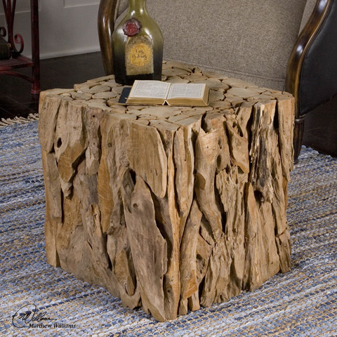 Uttermost Company - Teak Root Bunching Cube - 25592