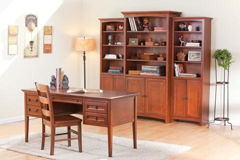 Whittier Wood Furniture - Four Drawer McKenzie Desk - 2401GAC