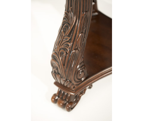 Michael Amini - Chair Side Table with Decorative Carvings - 02222-53