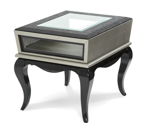 Michael Amini - Titanium End Table - 19202-16
