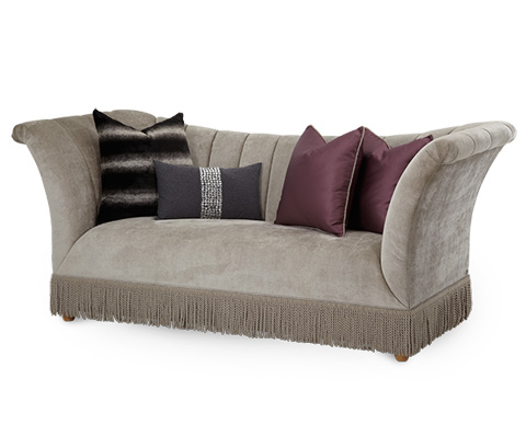 Michael Amini - Channel Back Sofa - 08815-PLTNM-00