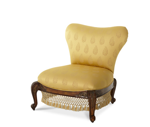 Michael Amini - Armless Sweetheart Back Chair - 67831-BTGLD-52