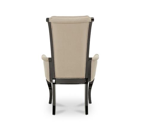 Michael Amini - Black Onyx Arm Chair - NU03004R-88