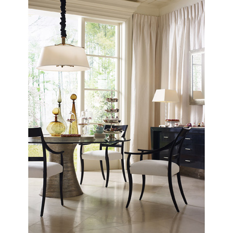 Baker Furniture - Katoucha Dining Table with Lazy Susan - 3837-72