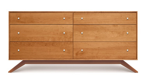 Copeland Furniture - Astrid 6 Drawer Dresser - Maple - 2-AST-60