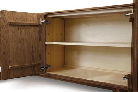 Copeland Furniture - Catalina 2 Door Buffet - Walnut - 6-CAL-25-04