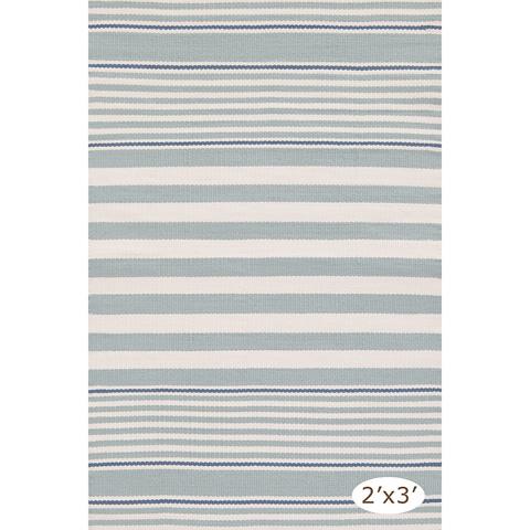 Dash & Albert Rug Company - Rugby Stripe Light Blue 8.5x11 Rug - RDB177-8511