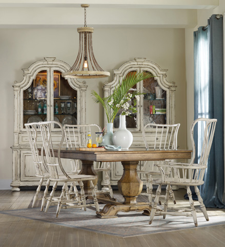 Hooker Furniture - Sanctuary Brighton Rectangle Trestle Dining Table - 5401-75206