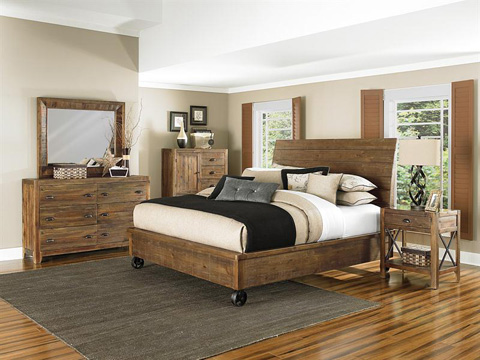 Magnussen Home - Queen Island Bed with Storage Footboard - B2375-51