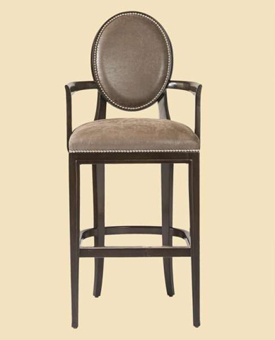 Image of Oval Back Barstool