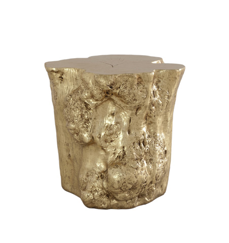 Image of Log Side Table in Gold Leaf