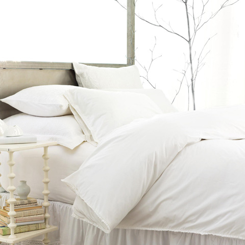 Pine Cone Hill, Inc. - Petite Ruffle White Duvet Cover - King - SPRWDCK