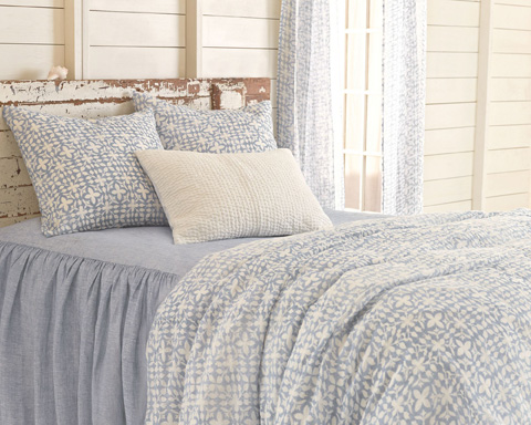 Pine Cone Hill, Inc. - Veena Blue Duvet Cover - King - VEBDCK