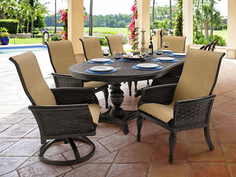 Castelle - English Garden Sling Dining Chair - 6196S