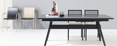 Skovby - Trestle Dining Table with Flared Legs - SM 11