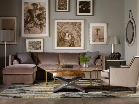 Vanguard Furniture - Robineau Road Upholstered Round Mirror - 9400-MI