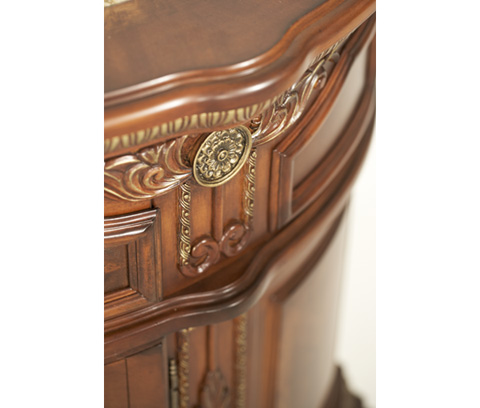 Michael Amini - Single Drawer Nightstand with Cabinet Storage - N65040-28