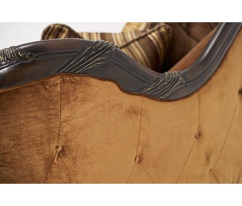 Michael Amini - Wood Trim Sofa - 76815-DPBRN-57